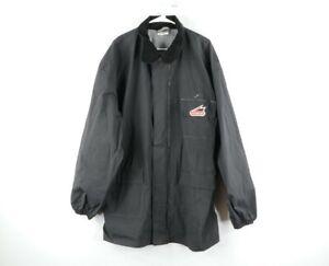 Vintage Hein Gericke Mens 2XL PVC Nylon Waterproof Motorcycle Parka Jacket Black