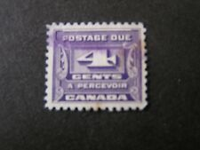 *Canada, Scott # J13, 4c. Value Dark Violet 1933-34 Postage Due Issue Used