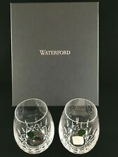 SET OF 2 WATERFORD LISMORE NOUVEAU STEMLESS DEEP RED WINE GLASSES NIB 136879