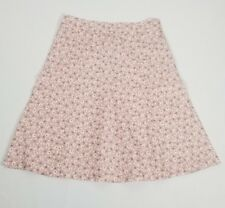 NWT $228 MARC JACOBS 100% SILK SKIRT ROSE PETAL PINK SZ 6