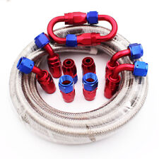 """AN8 -8AN AN-8 7/16"""" 11MM Stainless Steel Braided Oil Fuel Hose Line Pipe 5 Metre"""