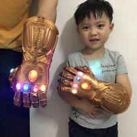 Thanos Gloves Cosplay Avengers 3 Endgame Infinity War Gauntlet LED Kid Toy Gift/
