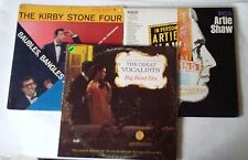"""4 Records Kirby Stone Artie Shaw Great Vocalists of Big Band Era  12"""" Vinyl LP"""