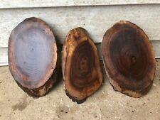 Three Oval Beautiful Black walnut  slabs