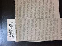 M3-8a ephemera 1941 dagenham article ww2 legion notes