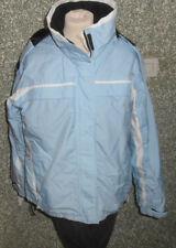 30 11b Etirel niñas chaqueta talla 176 AZUL CLARO capucha color blanco