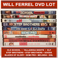 Will Ferrel DVD Lot 9 Comedy movies Anchorman Semi Pro Step Brother Elf SNL Semi