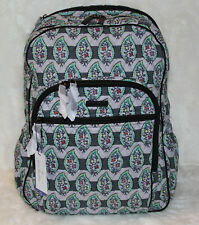 NWT VERA BRADLEY Iconic Campus Tech Backpack Laptop School Bag Paisley Stripes