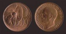 10 CENTESIMI 1921 APE - VITTORIO EMANUELE III FDC RAME ROSSO FIOR DI CONIO