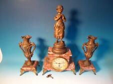 Antique French 3 pc garniture clock set