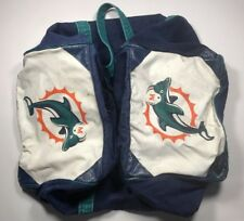 Vintage Miami Dolphins Team Issued Game Used Cosby Equipment Duffle Travel Bag