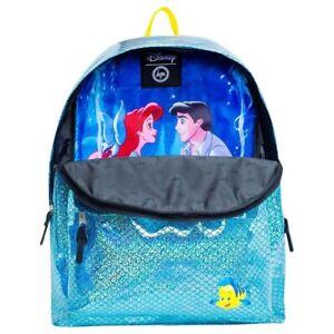 Hype Disney Little Mermaid Ariel Eric Flounder School Backpack NEW Kiss The Girl