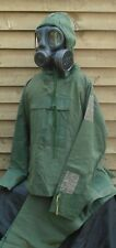 British Army - NBC Suit No1 MkIII -  Smock Trousers & S6 Respirator - 1975