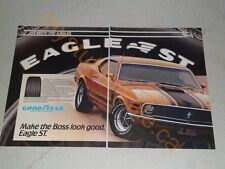1983 FORD GOODYEAR MUSTANG BOSS 302 ARTICLE / AD
