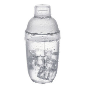 1x Plastic Milk Tea Beverage Cocktail Shaker Hand Shake Cup Clear with Scale