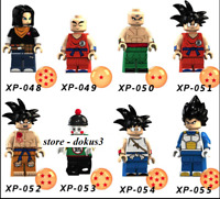 Ship In USA - 8 Pcs Lego Minifigures MOC  Dragon Ball Characters