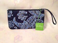 NWT VERA BRADLEY SLIM ZIP WRISTLET~BLUE BANDANA 15082-286951 GREAT FOR I-PHONE!!