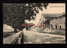 More details for malaya penang light street printed in germany postcard e20c - m351