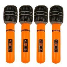 4 x gonflable blow up orange microphone déguisements disco sac de fête jouets 40cm