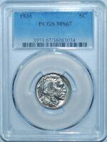 1935 PCGS MS67 Buffalo Nickel