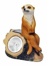 Solar Powered Meerkat On a Log Garden LED Light Landscape Boarder Lighting SLMC2