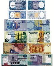 EGITTO - Egypt Lotto 6 banconote 5p/10p/25p/50p/1/5 pounds FDS - UNC