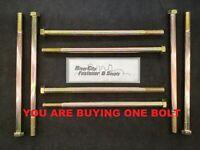 M7-1.0 x 60 or M7x60 or 7mm x 60mm Bolt 8.8 Zinc and 50 M7-1.0 Hex Nuts 50