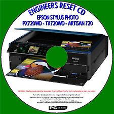 EPSON PX720WD tx720wd STAMPANTE rifiuti Ink Pad CONTATORE facile ingegneri CDROM FIX NUOVO