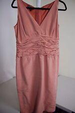 Lafayette 148 New York 100% Silk Orange Silk Lined Ruffled Sheath Dress - 14