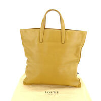Loewe Tote bag Logo Beige Woman Authentic Used Y3282