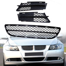 Front Grills Bumper Fog Lights Cover Lamp Frame Trim For BMW 3 Series E90