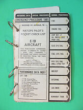 Naptops Pilot's Pocket Check List E-1b Aircraft 1968