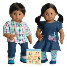 American Girl BITTY TWINS girl boy medium skin brown hair eyes baby DOLL NIB