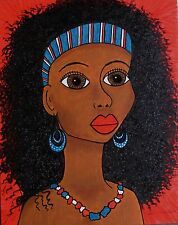 I Dream of Africa 16 x 20 LOVELY Orig acrylic painting artist signed whimsical