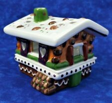 Villeroy & Boch Tea Light Candle Holder Gingerbread Wood House Ceramic