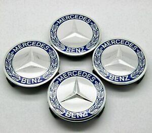 4X 75mm Hubcaps Center Wheel Center Caps Emblem Logo For Mercedes Benz Wheel Cap