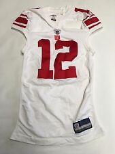 Mens REEBOK NY Giants Game Worn Jersey Sz 3AC #12 Jerrel Jernigan Autographed