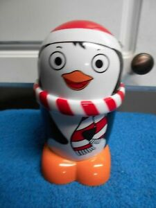 Penguin Hard Plastic with Lid 6.5 in Tall Screws on