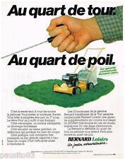 PUBLICITE ADVERTISING 095  1980  BERNARD LOISIRS   tondeuse