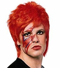 1980S 80'S MALE PUNK GLAM ROCKER ZIGGY STARDUST DAVID BOWIE COSTUME WIG ORANGE