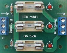 Stromverteiler 3-fach Sicherungen und LED, Sicherungshalter,Sicherung, Verteiler