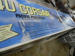 "TOP FLITE GOLD EDITION F4U CORSAIR ""PeaceMaker"" 62"" R/C BALSA MODEL AIRPLANE KIT"