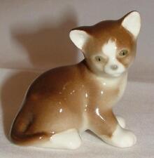 Lomonosov Russian Porcelain Animal Figure Brown Kitten