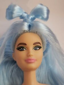 Nude Barbie Extra DELUXE Doll  Long BLUE Hair, Jointed