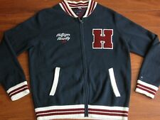 TOMMY HILFIGER Cardigan Zippered Varsity 85 Letterman Sweater Mens L