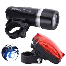 Waterproof Super Bright 5 LED Bike Bicycle Cycling Front Rear Back Tail Lights