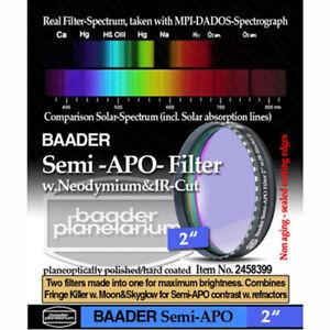 """Baader Planetarium 2"""" Semi-APO Filter # FSAPO-2  2458399"""