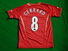 LIVERPOOL 2005-06 EUROPEAN FOOTBALL HOME SHIRT GERRARD 8 ,MENS XS