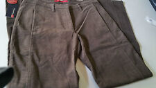 PANTALONE DONNA PACIFIC TRAIL SIZE 33 IT 48 TESSUTO ELASTICO MARRONE VITA ALTA