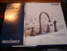 Aqua Source 2-Handle Kitchen Faucet w/ Pull-Out Side Sprayer-Oil-Rubbed Bronze